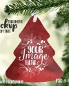 Tree Shaped Christmas Ornament Mockup Template Add Your Own Etsy