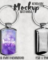 Dye Sublimation Silver Rectangle Key Chain Mockup Template Etsy