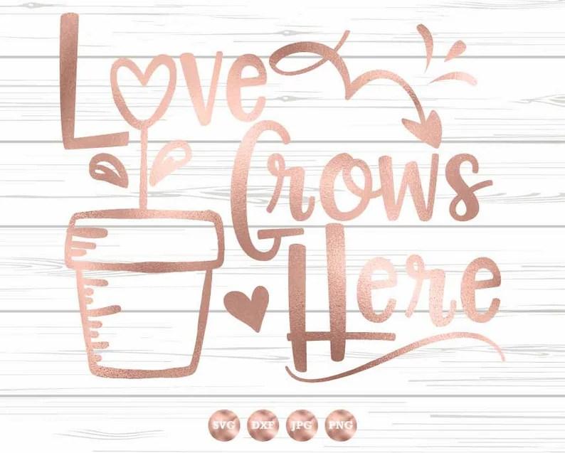 Download Spring SVG Love Grows Here SVG Family SVG Gardening Svg | Etsy