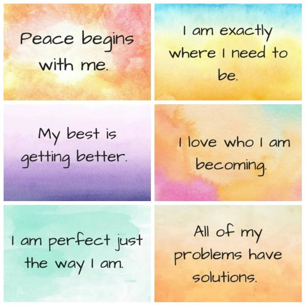 Affirmation Cards Positive Affirmation Teach Peace Anxiety