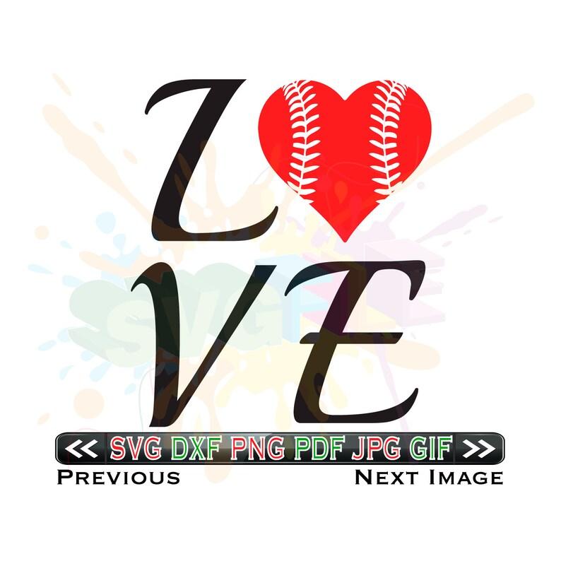 Download Love Baseball SVG Files for Cricut Designs Baseball Mom ...