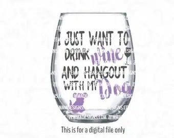 Download wine glass svg wine svg glass svg when I sip svg svg | Etsy