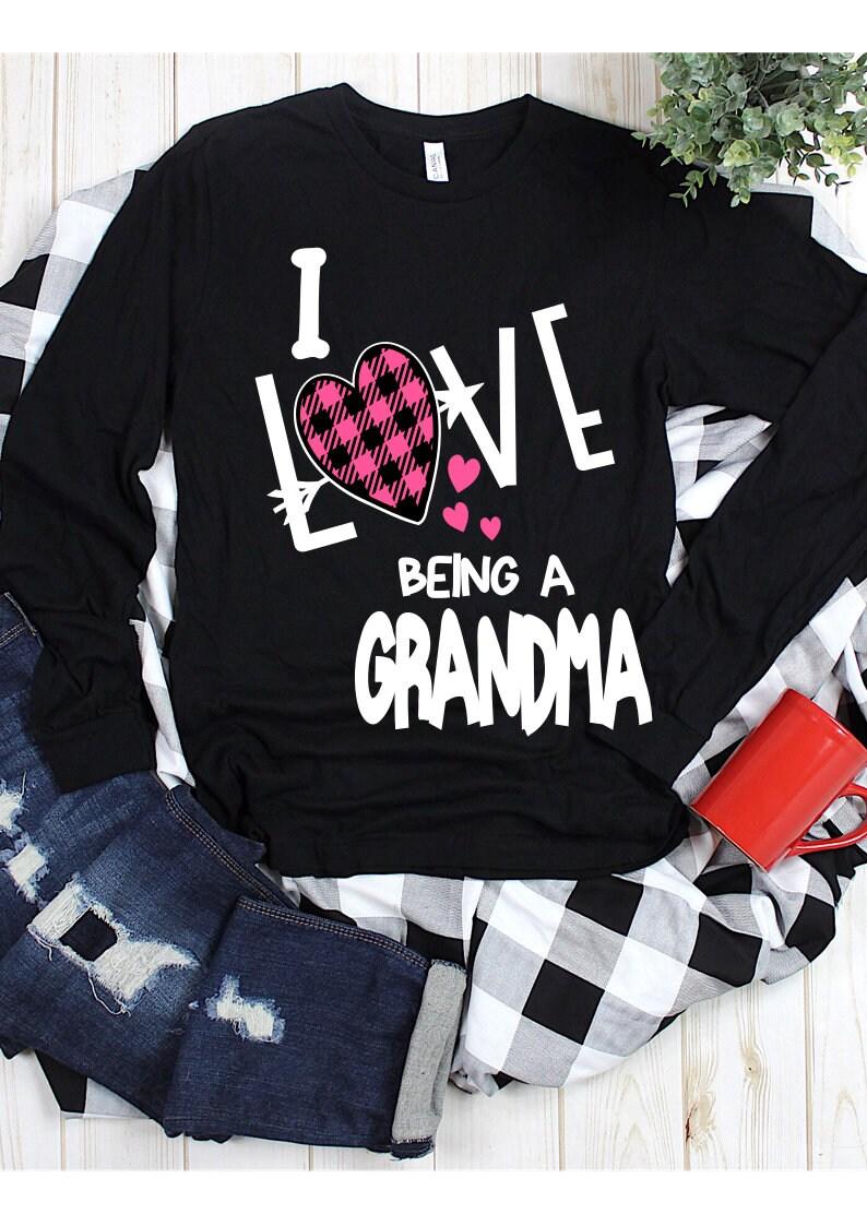 Download I Love Being a Grandma Svg Buffalo Plaid Grandma SVG ...