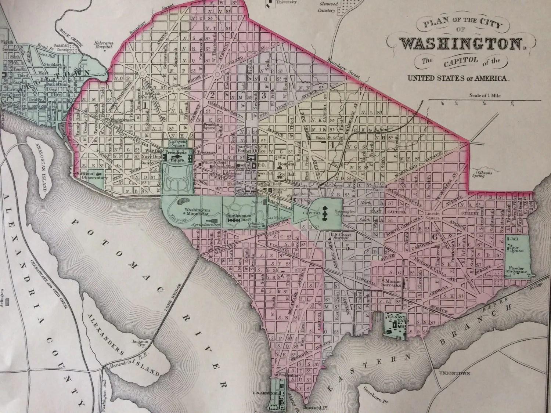 Old City Map Georgetown Washington DC