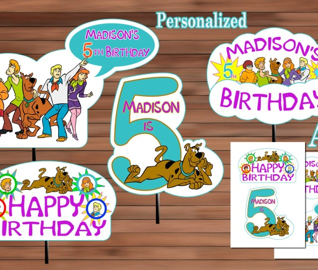 Scooby Doo Party Decoration Scooby Doo Party Favor Scooby Doo Centerpiece Scooby Doo Birthday Party Personalized Pdf