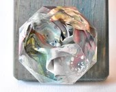 Abstract Drawer Pull, Diamond, Drawer Pull, Colorful Drawer Pull, Knob, Terrarium