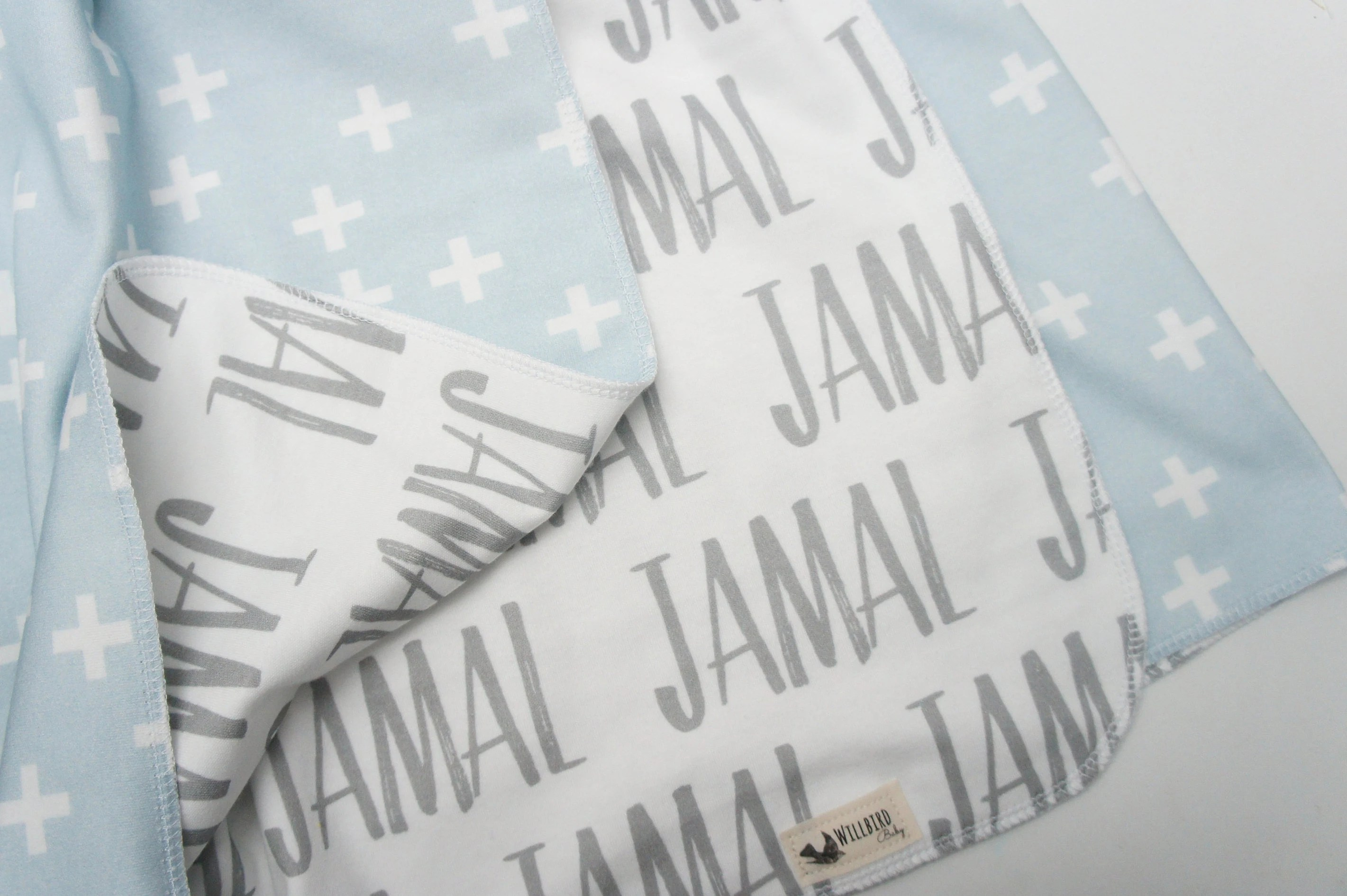 Blanket  Personalized Reversible Organic Cotton Name Blanket image 3