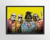 Star Wars Art - Alternative Universe Sgt Pepper -  Print  Boys Geek kids man cave nerds bedroom office nursery home decor
