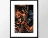 Ash From The Evil Dead Movie Maniac  - Original Digital Art - PRINTED Boys Geek  man cave nerds bedroom office horror classic