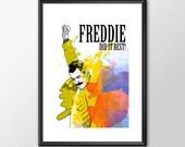 Freddie Did It Best - Freddie Mercury & Queen Music Tribute - PRINTED Boys Geek man cave nerds bedroom office classic