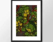 Ninja Turtles - PRINTED - Boys girls Geek man cave nerds bedroom office kids marvel comic superhero