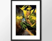 Iron Fist - PRINTED -  for the Big Boys Geek man cave nerds bedroom office superhero marvel comics