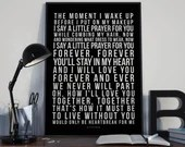 Say A Little Prayer - Song Lyrics Typography Aretha Franklin Tribute - PRINTED music Art bedroom office lounge home decor