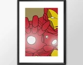 Iron Man  - PRINTED - Boys girls Geek man cave nerds bedroom office kids marvel comic superhero