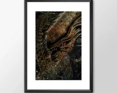 The Alien from the Alien Movies - Movie Maniac  - Original Digital Art  - PRINTED Boys and girls Geek man woman cave nerds bedroom office