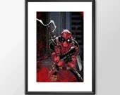 Deadpool 2 - Printed - Classic Comic style for the Big Boys Geek kids man cave nerds bedroom office superhero marvel