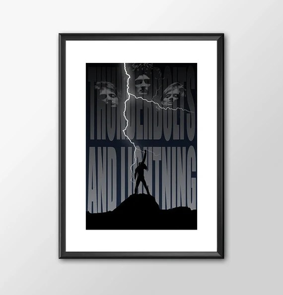 Queen and Freddy Mercury Music tribute  for the Big Boys Geek man cave nerds bedroom office
