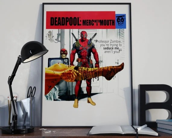 Deadpool 9 Classic Comic Book Cover Art Cover for the Big Boys Geek man cave nerds bedroom office kids superhero