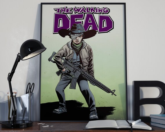 Walking Dead Comic Book Art 5 - Classic Carl Comic Book Cover Art Cover for the Big Boys Geek man cave nerds bedroom office