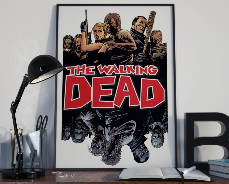 Walking Dead Comic Book Art 9 - Classic Comic Book Cover Art Cover for the Big Boys Geek man cave nerds bedroom office