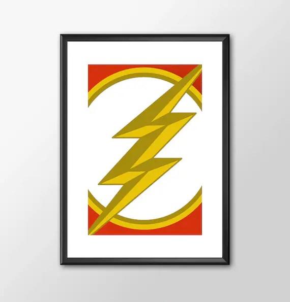 The Flash Logo Classic comic book style for the Big Boys Geek man cave nerds bedroom office kids superhero dc comics