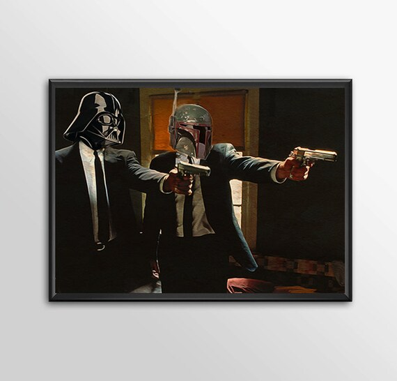 Star Wars Art - Alternative Universe 7 - Pulp Wars for the Big Boys Geek kids man cave nerds bedroom office