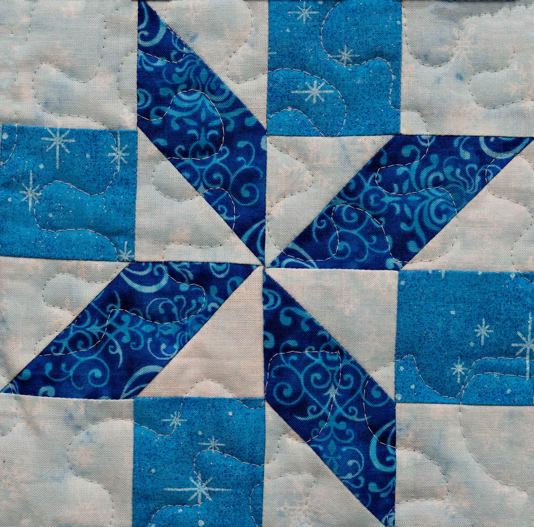 Pieced Snowflake Easy Quilt Block Pattern