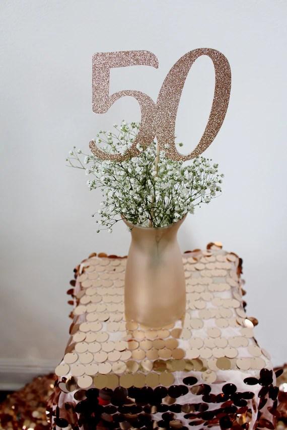 50th Birthday Centerpiece Stick 50th Birthday Decorations Etsy