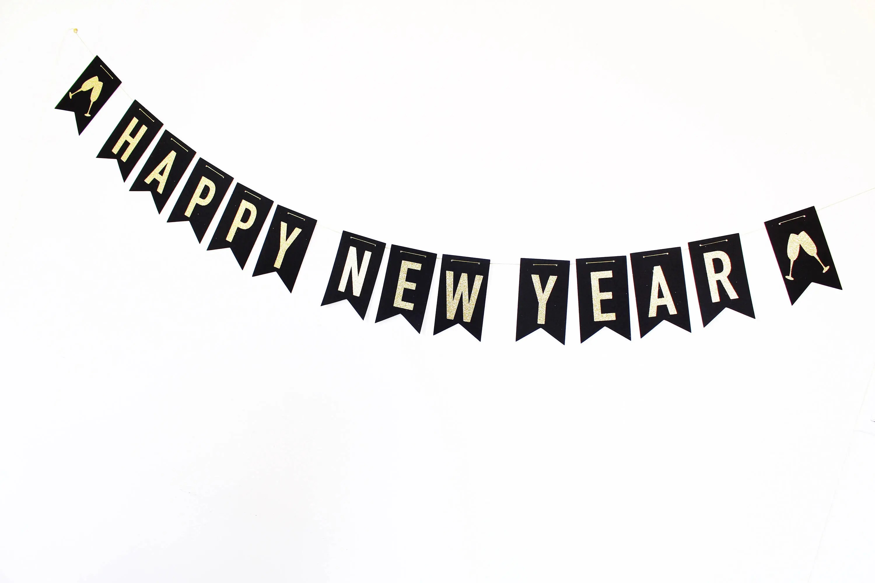 Happy New Year Banner New Years Eve Decorations New Years