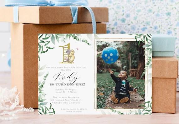 pooh invitations diy editable template