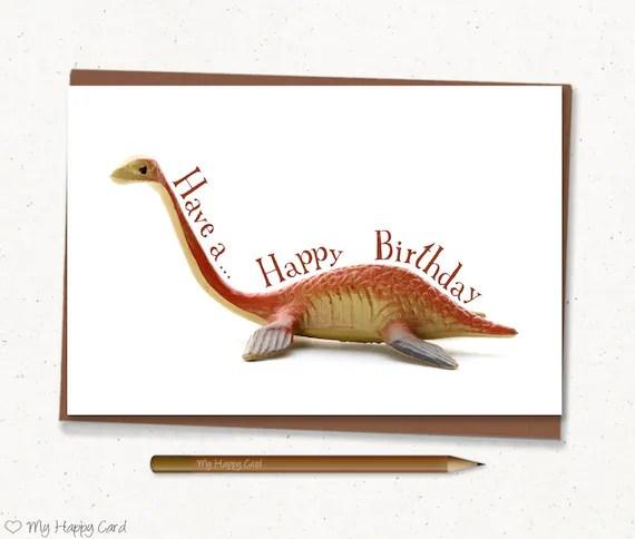 Dino Birthday Card Printable 4 X6 Digital File Instant Download Orange Dinosaur Birthday Card Kids Birthday