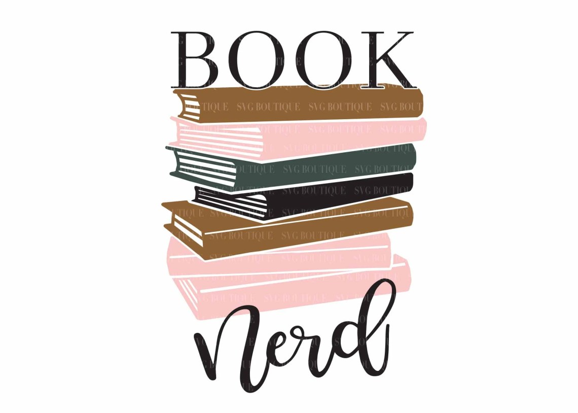 Download Book Nerd SVG File Books Cut Files Book Lover Librarian | Etsy