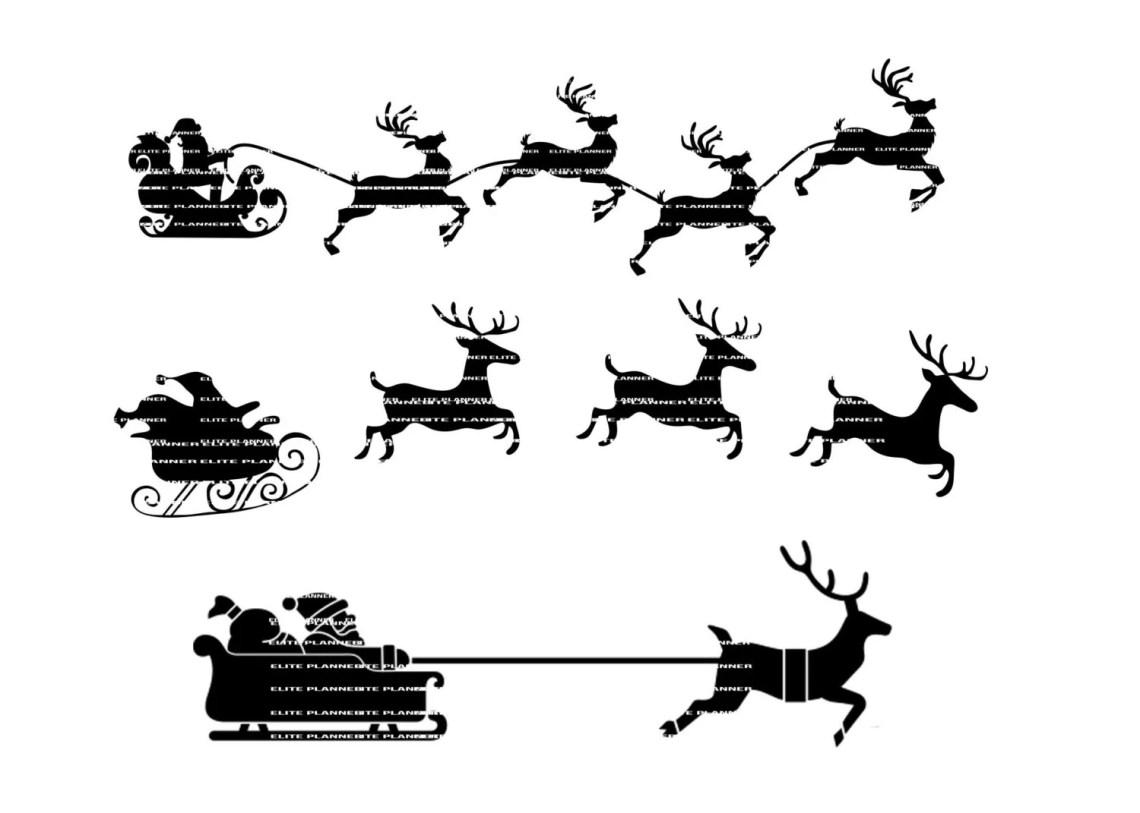 Download Reindeer SVG Santa Cutting Files PNG SVG Came Cricut | Etsy