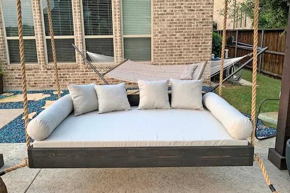 sunbrella custom daybed cushion queen bed size porch decor etsy