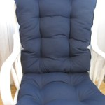 Glider Or Rocking Chair Cushions Set In Navy Solid Baby Nursery Rocker Dutailier Replacement Chair Pads