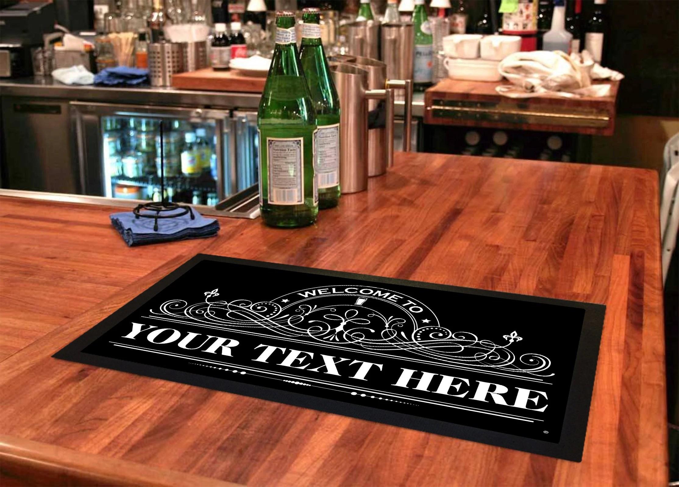 tapis personnalise de bar de biere cadeau personnalise de barre de cave d homme signe personnalise de barre cadeau d accessoires de bar pour des