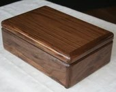 Wood Jewelry Box, 5th Anniversary Gift for Him, Wooden Jewelry Box, Jewelry Box Organizer, American Walnut Wood Box. 59W