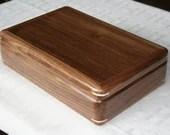 Men's Valet Box, Wood Keepsake Box, High Quality Handcrafted American Walnut Wooden Box, Dresser Valet, Gift for Him 5V