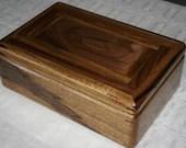 Black Limba with American Walnut Jewelry Box, Wooden Jewelry Box, Men's Jewelry Box, Keepsake box, Jewelry Storage box, 5BLW