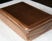 Men's Valet Box, Wood Keepsake Box, High Quality Handcrafted American Walnut Wooden Box, Dresser Valet, Gift for Him 4V