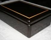 Natural Black Wenge Wood Jewelry Box,  Men's Jewelry Box, Wooden Jewelry Box, Keepsake Box, Valet Box, Jewelry Storage Box. 1WY