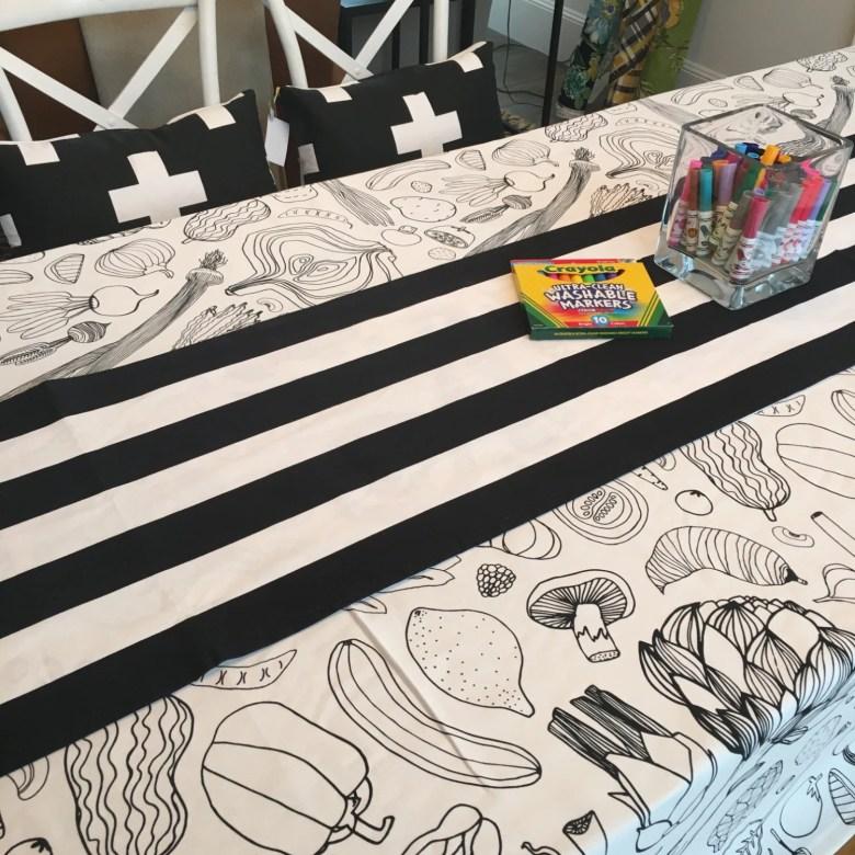 coloring book tablecloth   thanksgiving tablecloth, wedding table