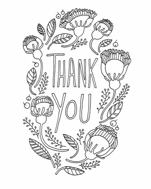 diy thank you card for father's day adult coloring page  etsy