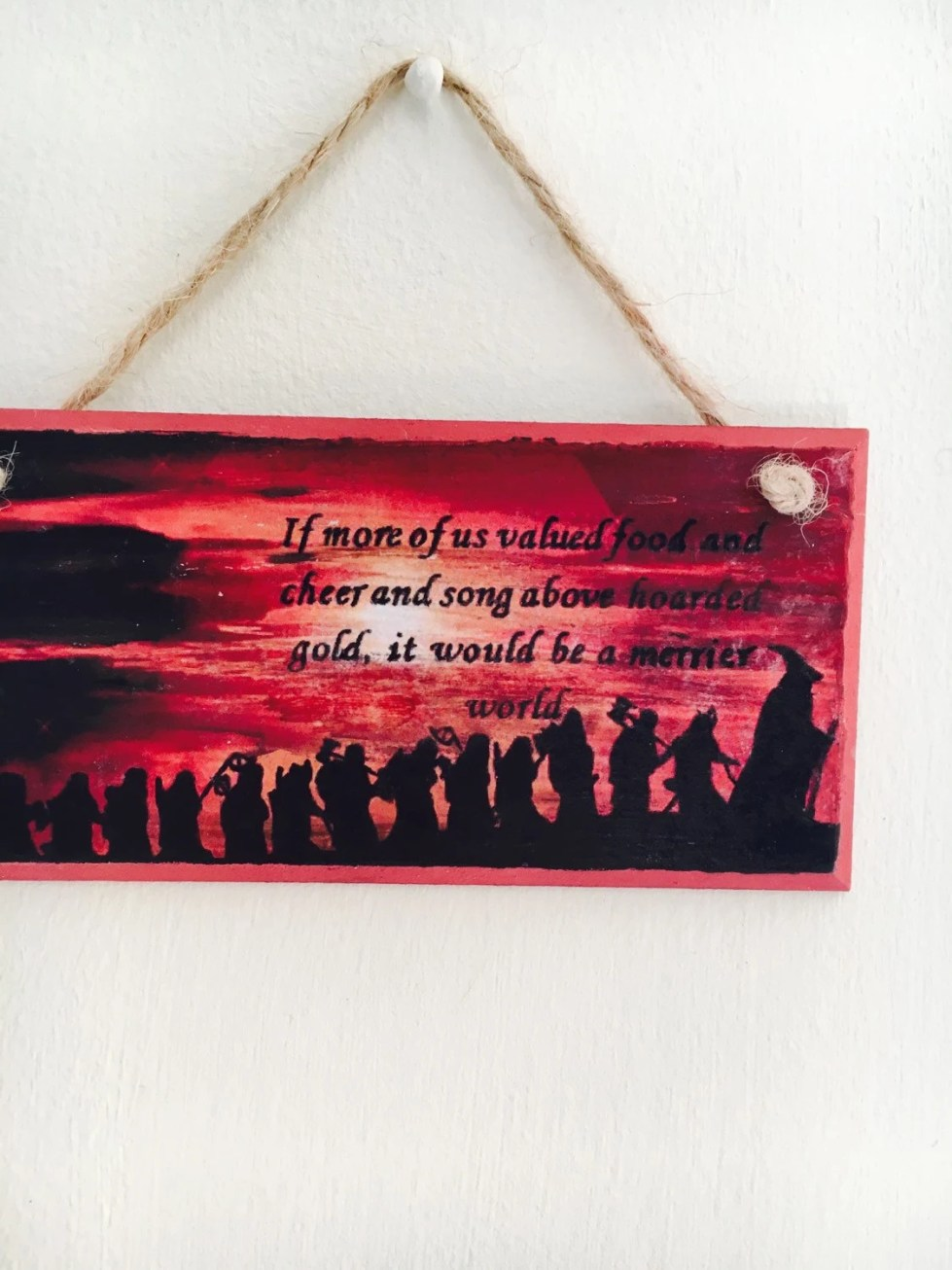 The Hobbit inspired quote...