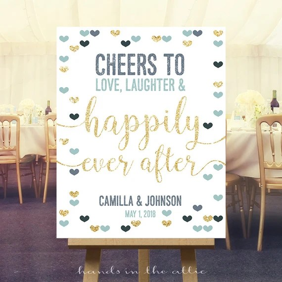 Download Items similar to Cheers to love laughter & happily ever ...