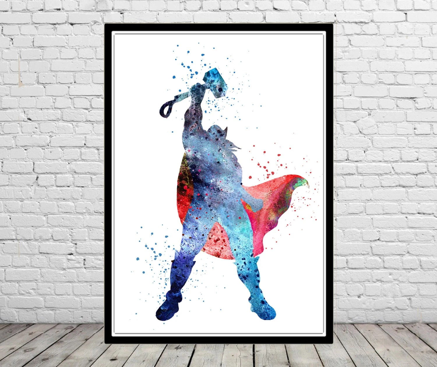 Norse Mythology Thor Thor Print Watercolor Art Kids Room