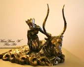 Exclusive author's sculpture, Decorative sculpture, Salon Bronze, Abduction of Europa, Unique piece comes from the artist's studio 1/1