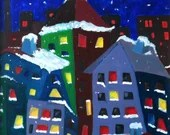 Decorative Painting, Mural Painting, Winter Tale, Oil on Canvas, Knife