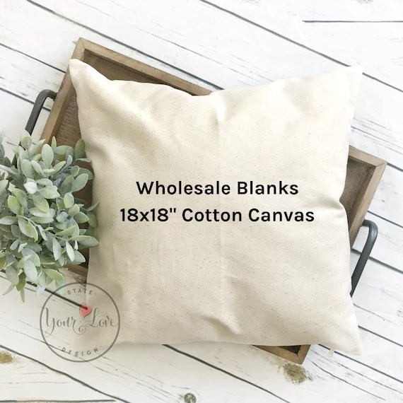 18x18 blank pillow covers white natural gray wholesale canvas blanks cotton canvas pillow cover perfect for painting crafts htv