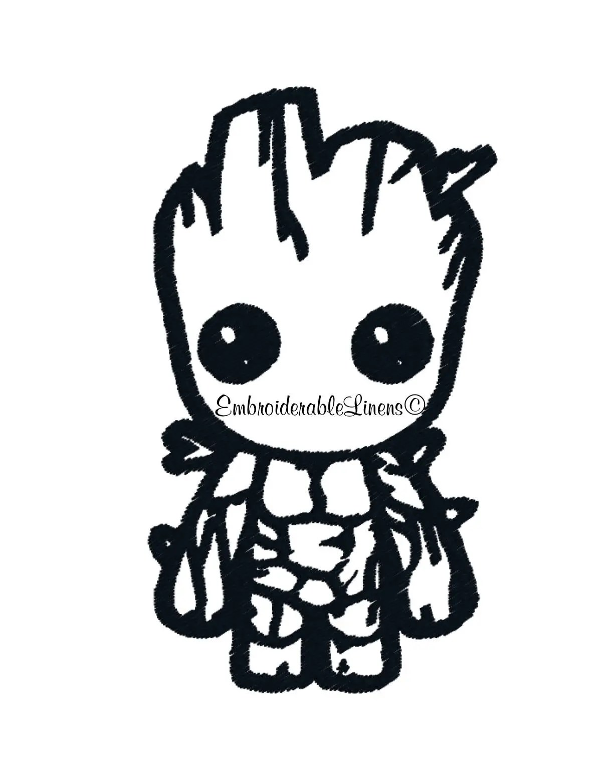Baby Groot Embroidery Design Baby Groot Guardians Of